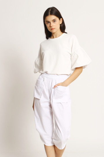 Doreen Harem Pants - White