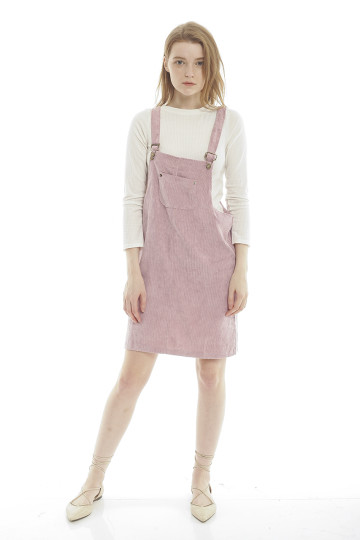 Evelyn Corduroy Overall - Pink