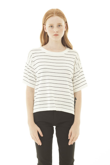 Laqueta Stripe Top - White