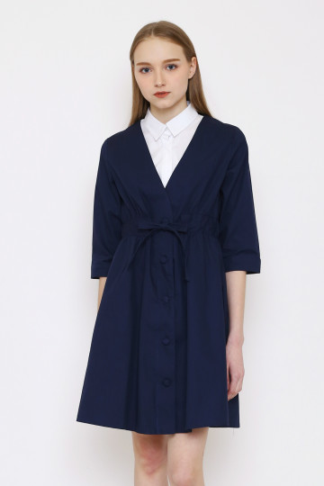 Mia Coat Set - Navy