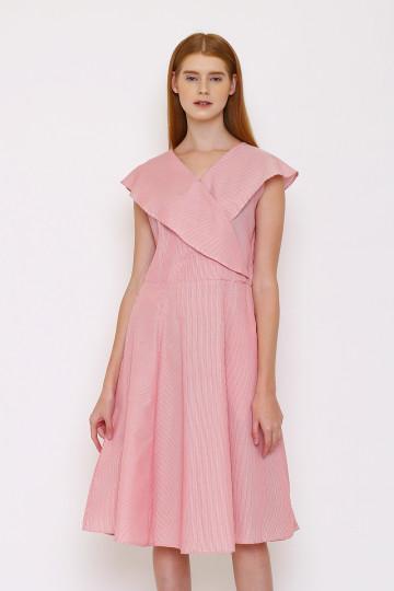 Eva Stripe Dress - Red