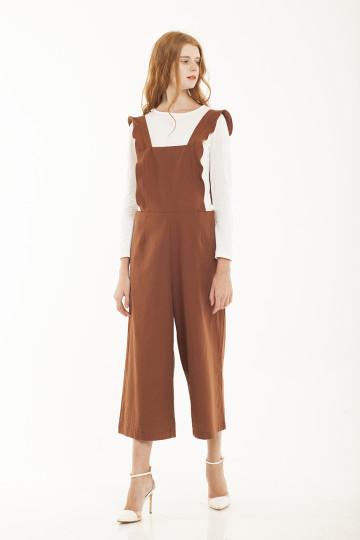 Sabine Frills Overall - Brown