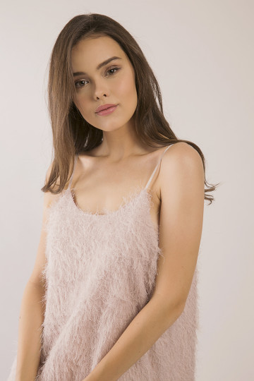 Fuzzy Dress - Pink