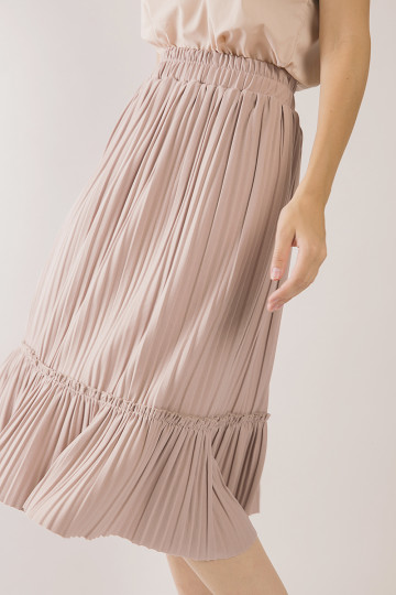 Tammy Accordion Pleats Skirt - Pink