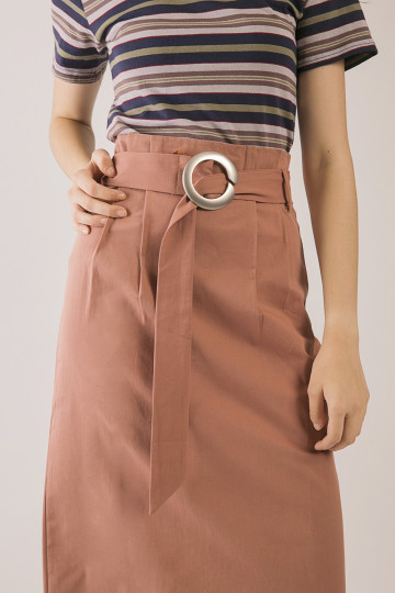 Tonya Buckle Skirt - Terracota