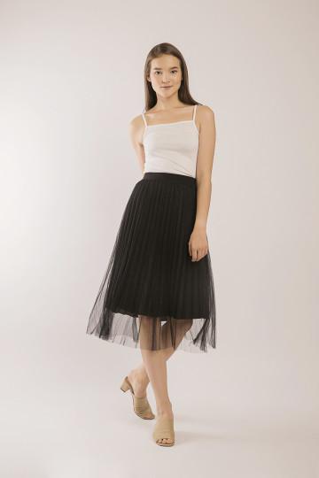 Kila Glitter Tulle Skirt - Black