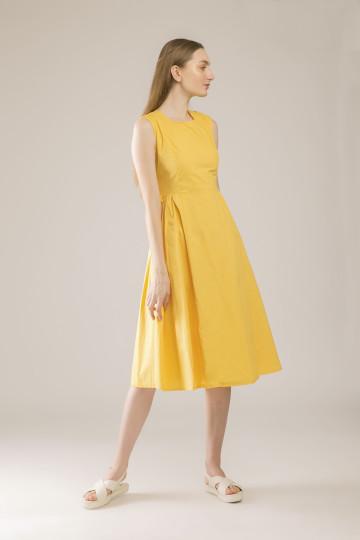 Hailey Cross Back Dress - Yellow