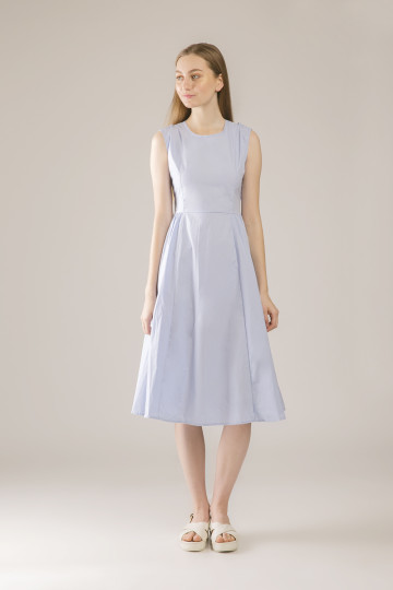 Hailey Cross Back Dress - Blue