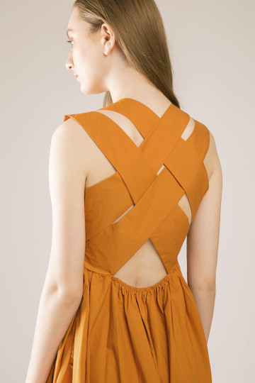 Hailey Cross Back Dress - Sienna