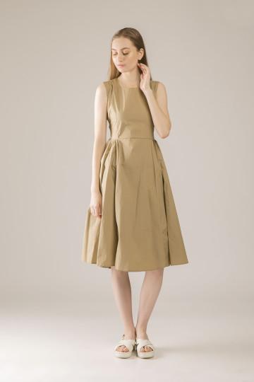 Hailey Cross Back Dress - Brown