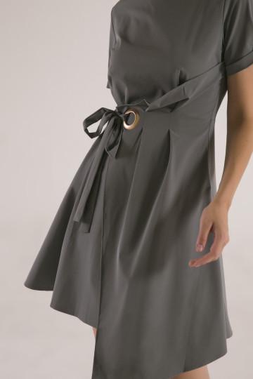 Jennifer Pleats Dress - Green