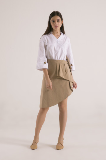 Jolie Apron Dress -  White