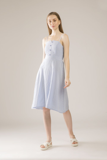 Behati Dress Tank Square - Blue