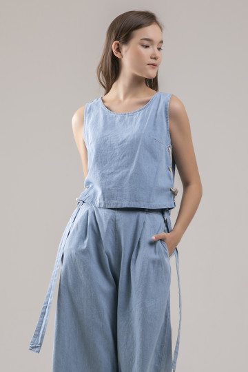 Isla Denim Set - Blue