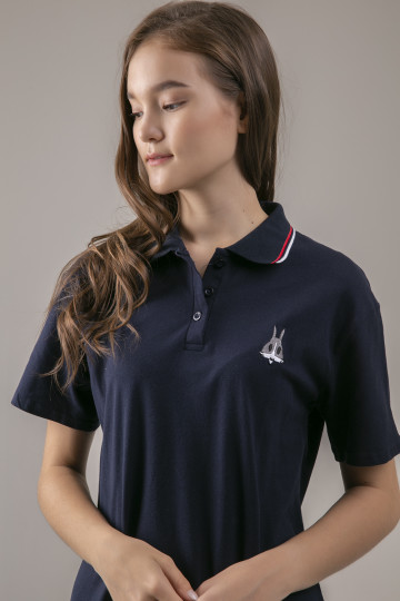 Bunny Polo Dress - Navy