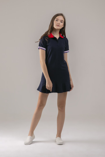 Vika Polo Dress - Navy