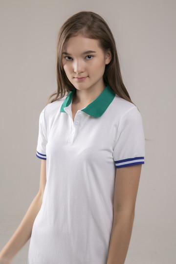 Vika Polo Dress - White