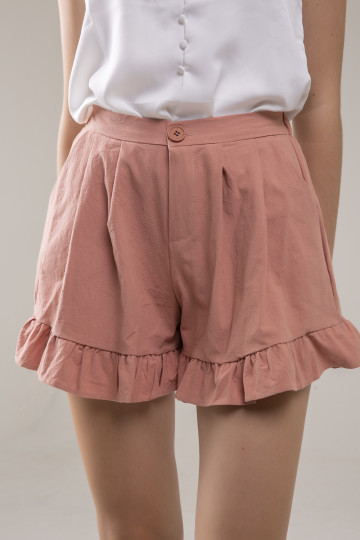 Lexie Ruffle Short - Terracota