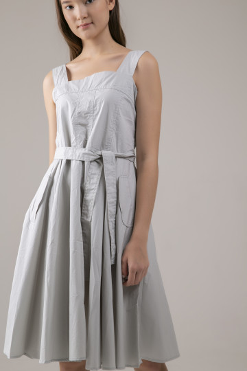 Bea Squareneck Dress - Sage