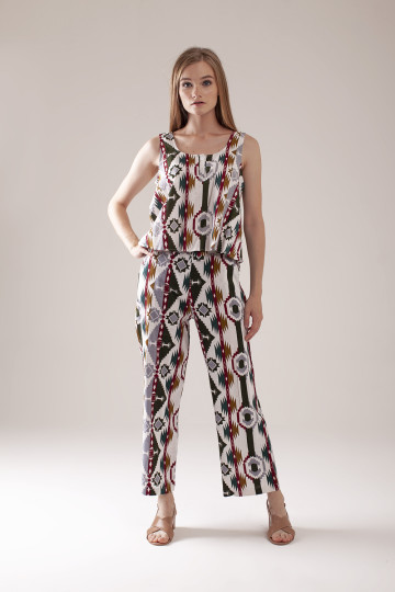 Diandra Tribal Pants Set