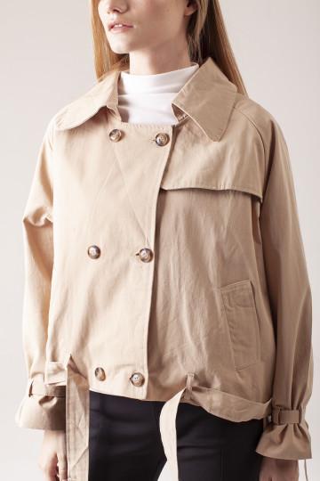 Kinley Double Breasted Jacket - Beige