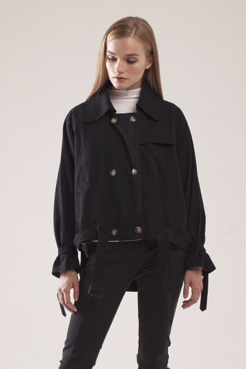 Kinley Double Breasted Jacket - Black