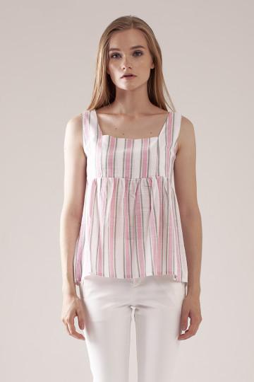 Marla Stripe Top - Pink