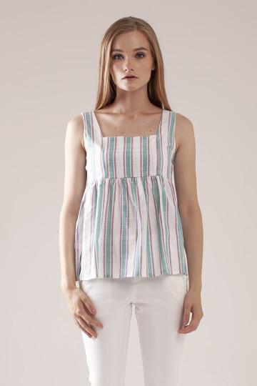 Marla Stripe Top - Green