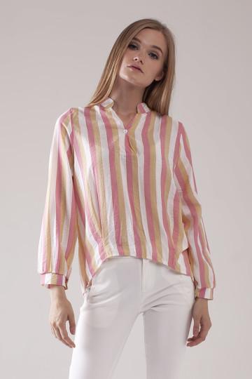 Jolie Stripe Shirt - Pink