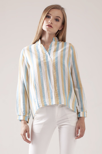 Jolie Stripe Shirt - Green