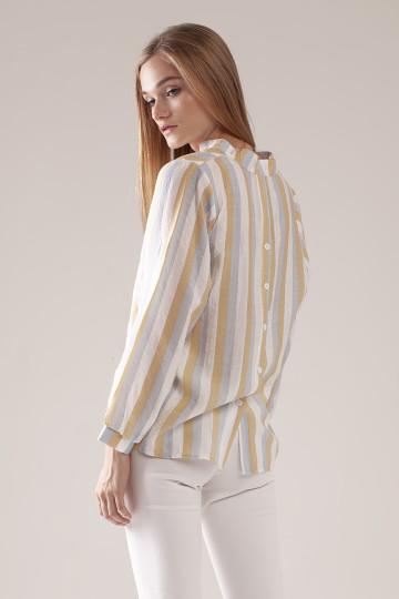 Jolie Stripe Shirt - Yellow