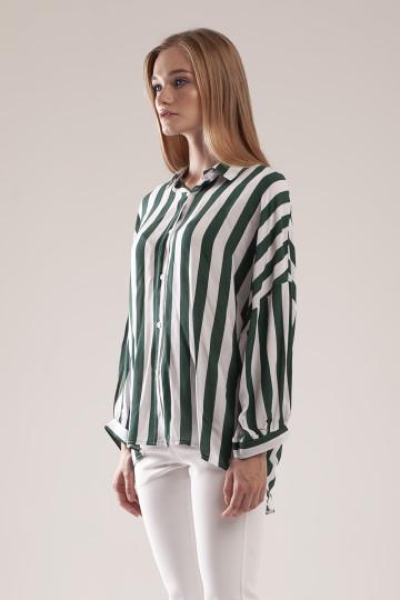 Camille Stripe Shirt - Green