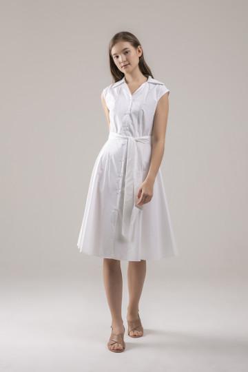 Lana Trench Dress - White