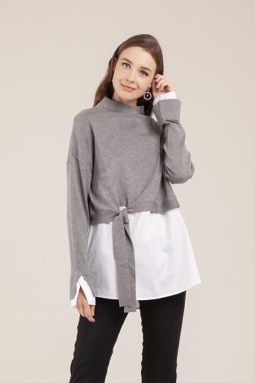 Roxie Sweater Set - Grey