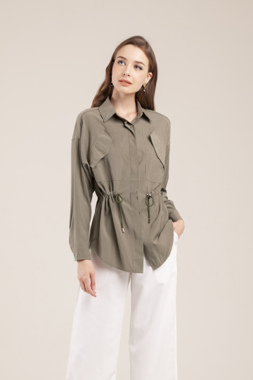 Pax Drawstring Shirt - Military