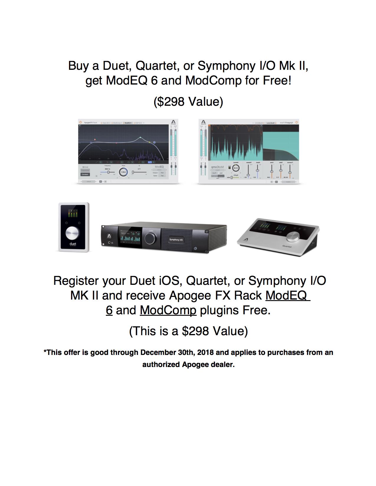 Apogee FX Rack for Duet, Quartet and Symphony I/O