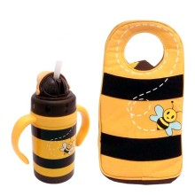 Arvita Bag + Ice Cooler + Container + Bottle Water bee Yellow