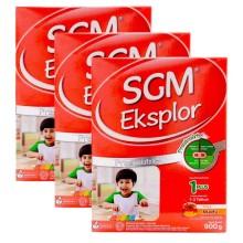 SGM Eksplore Presinutri 1+ @3Dus Susu Pertumbuhan - Madu - 900gr