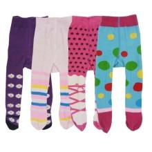 Babylonish1 Stocking anak/Legging anti slip usia 6-12bln - Purple Blue @4pcs