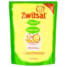 Zwitsal Baby Bath Milk and Honey 250ml refill pouch