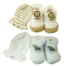 Babylonish Kaos Kaki Tangan 1 set  -  paket 1 : Lion + Blue elephant