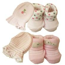 Babylonish Kaos Kaki Tangan 1 set  - paket 4 : Pink_pink + Elephant Polkadot