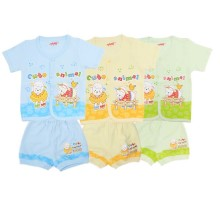 Costly Kaos Pendek+Celana Sg4 Rip - Cute Animal size SML  @3set