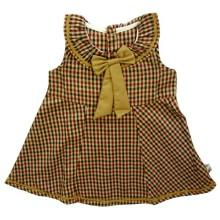 Babylon Dress - My Ribbon - Brown Kotak