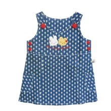 BABYLON Dress A Aplikasi Dada - My Lovely Friend  - Blue