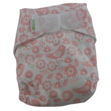 Minoo Cloth Diapers - Flower Pink