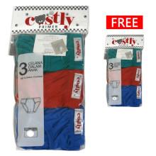 Costly Buy 1 Get 1 Free Celana Dalam Warna [Isi 3pcs Gratis 3pcs]
