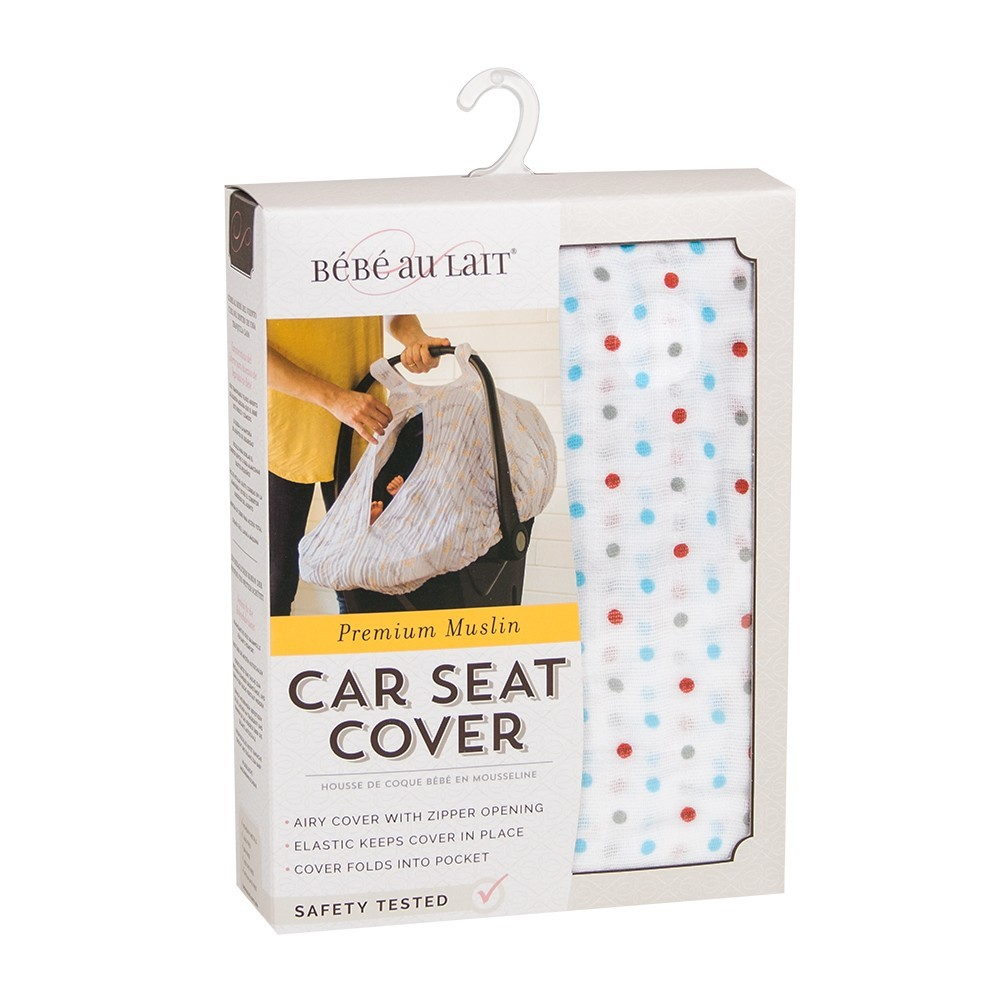 Enjoyable Bebe Au Lait Car Seat Cover Polka Pdpeps Interior Chair Design Pdpepsorg
