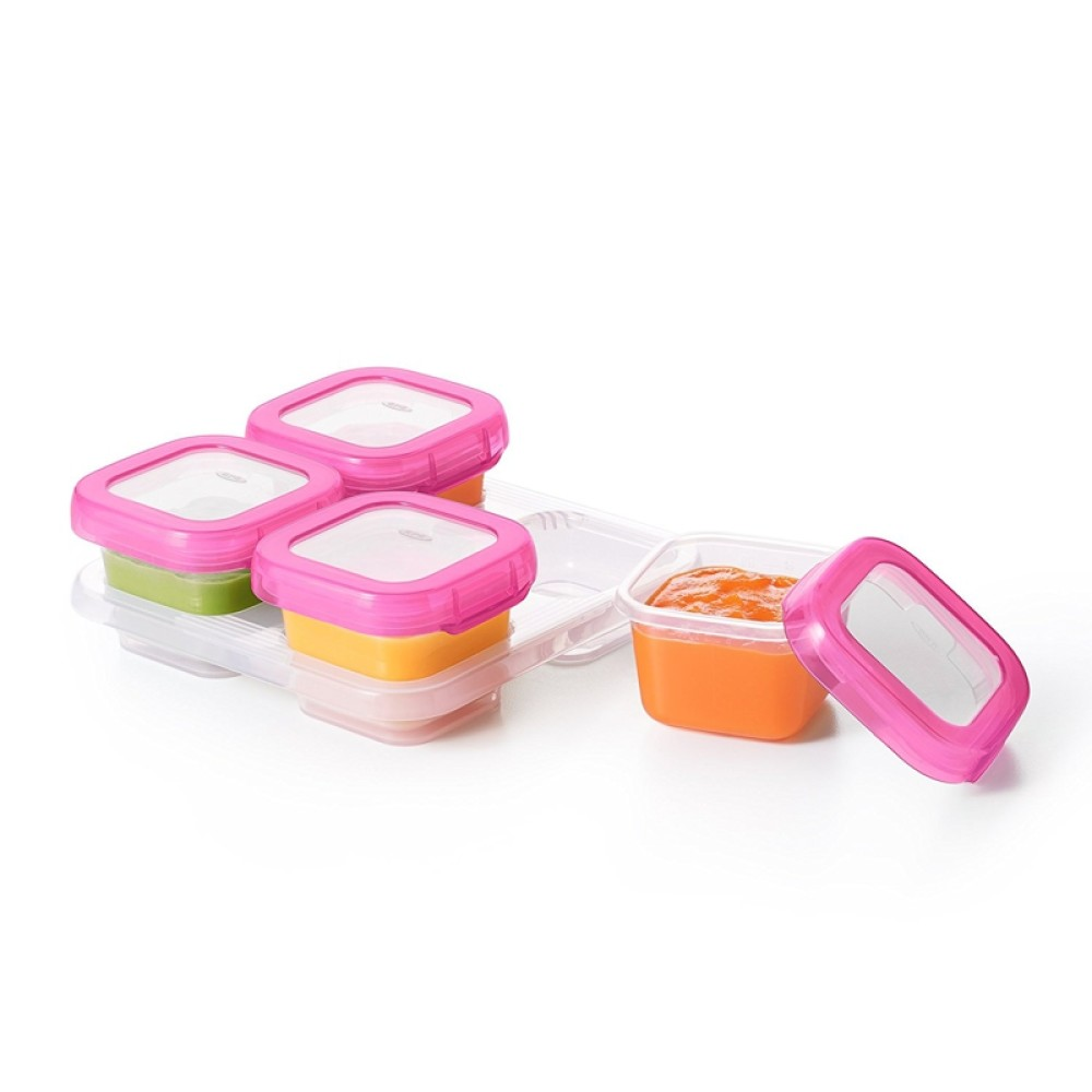 OXO tot Baby Blocks Freezer Storage Containers 4oz BPA FREE