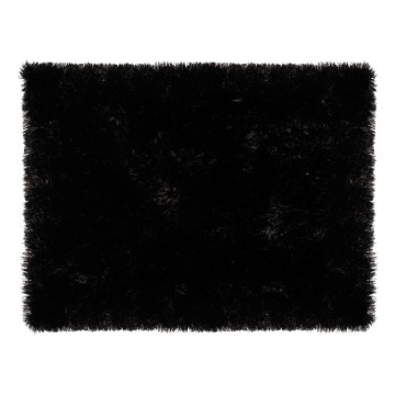 Glerry Home Decor Square Black Fur Rug Image